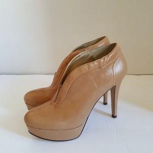 Nine West Women's Leather Tan High Heeled Pumps